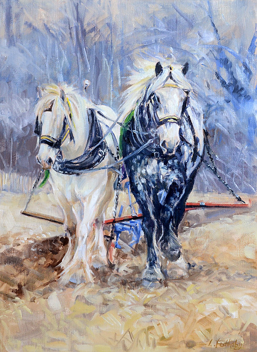 Ploughing, April