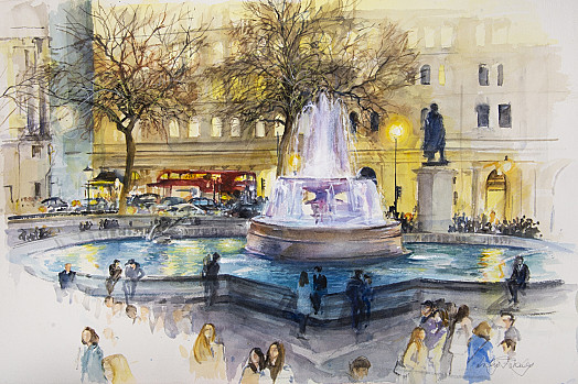 Fountain, Trafalgar Square