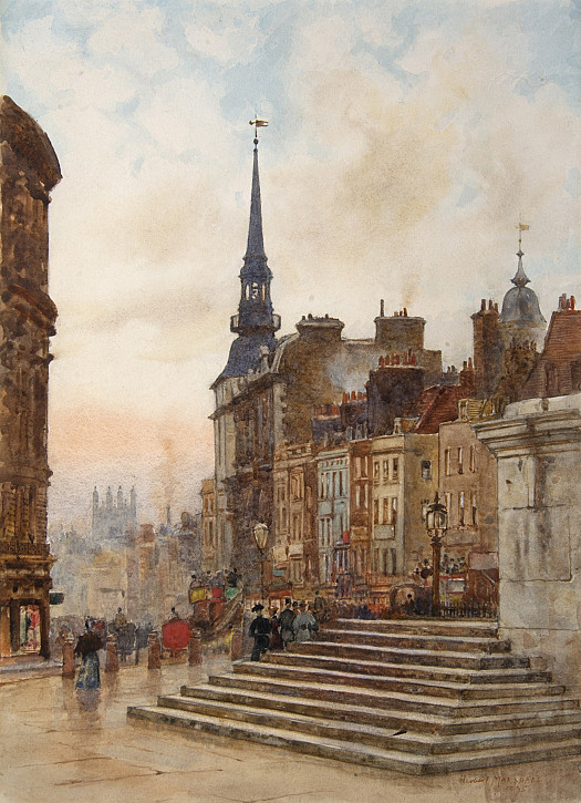 Ludgate Hill from the Cathedral Steps