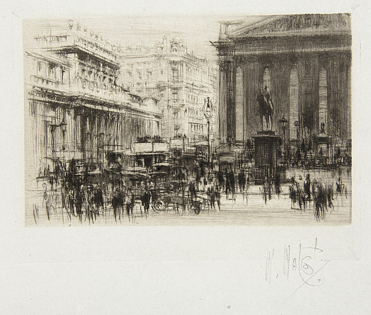 Bank of England and the Royal Exchange