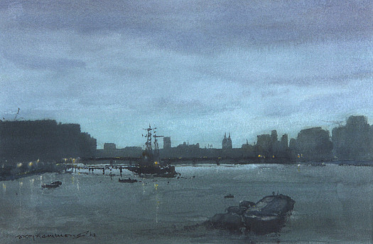 Evening in the Upper Pool – Thames