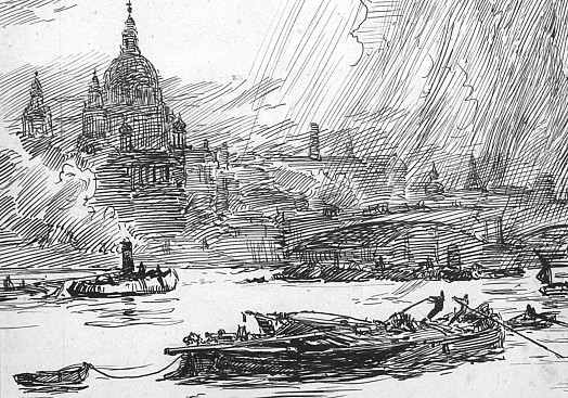 St Paul's Cathedral, Seen from the River