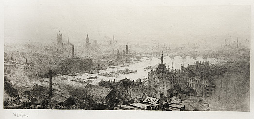 Panoramic View of Westminster from St Paul's