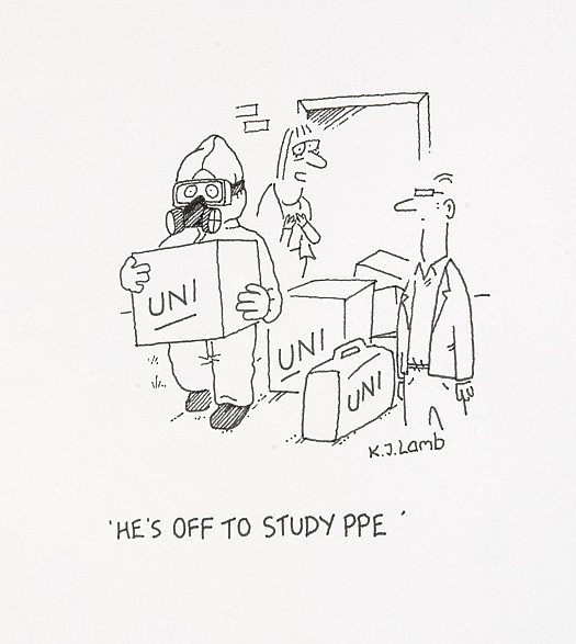 He's off to study PPE