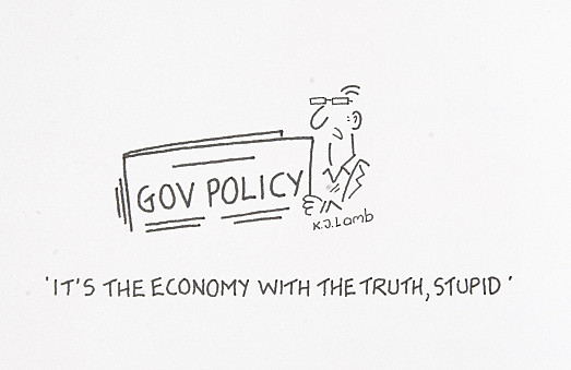 It's the economy with the truth, stupid