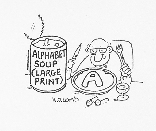 Alphabet Soup (Large Print)