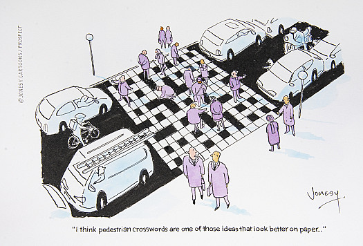 I think pedestrian crosswords are one of those ideas that look better on paper...