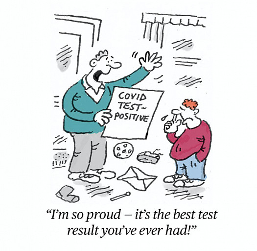 I'm so proud - it's the best test result you've ever had!