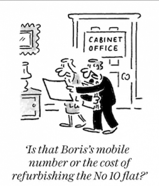 Is that Boris's mobile number of the cost of refurbishing the No 10 flat?