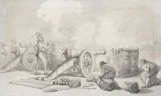 A French Artillery Division in Action