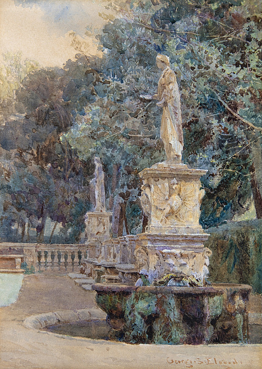 Fountains in the Borghese Gardens, Rome