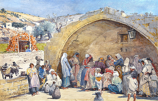 The Fountain of the Virgin at Nazareth