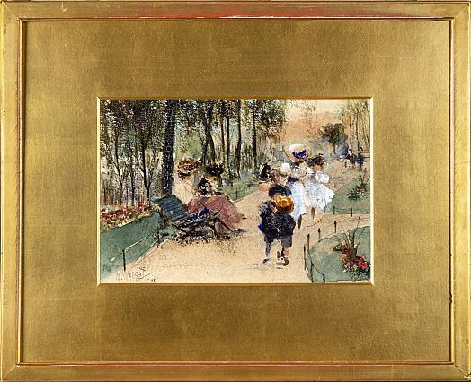 Women and Children in a Park