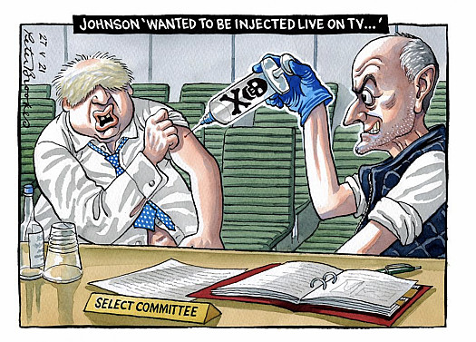 Johnson 'Wanted to be injected live on TV...'