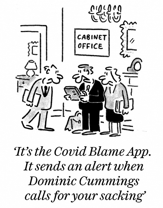 It's the Covid Blame App. It sends an alert when Dominic Cummings calls for your sacking