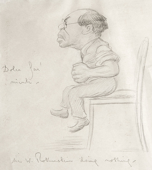 Mr W Rothenstein Doing Nothing