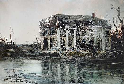 A Famous ChateauNear Ypres – Boesinghe – 1916Quite Demolished Later