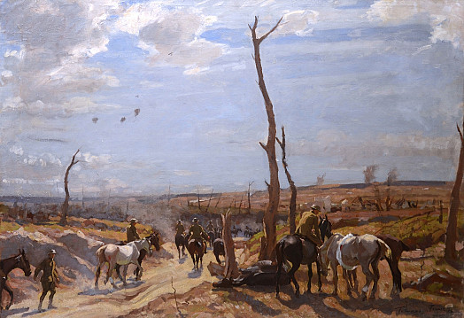 Wounded Horses Returning from the Front, France