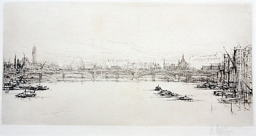The Thames –from Southwark Bridge Looking East
