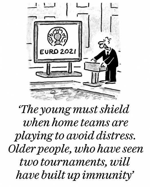 The young must shield when home teams are playing to avoid distress. Older people, who have seen two tournaments, will have built up immunity