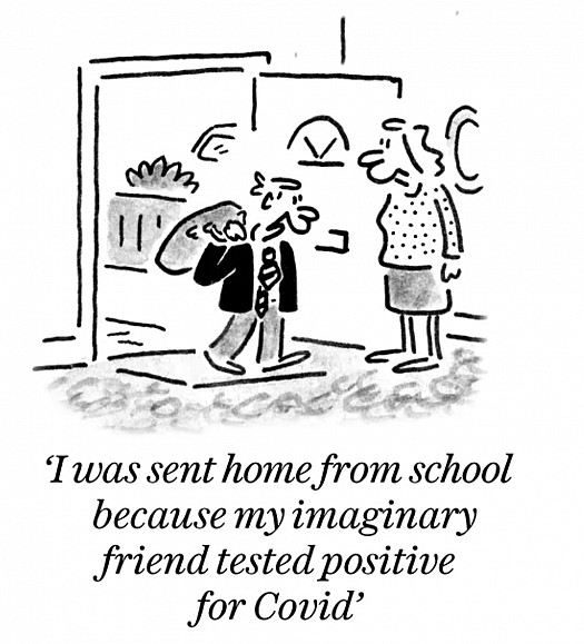 I was sent home from school because my imaginary friend tested positive for Covid