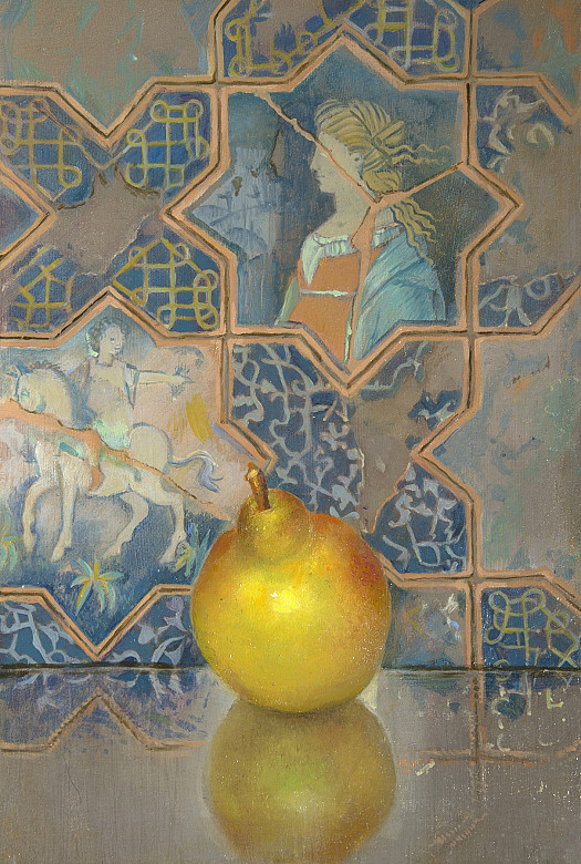 Pear and Majolica Tiles from Deruta