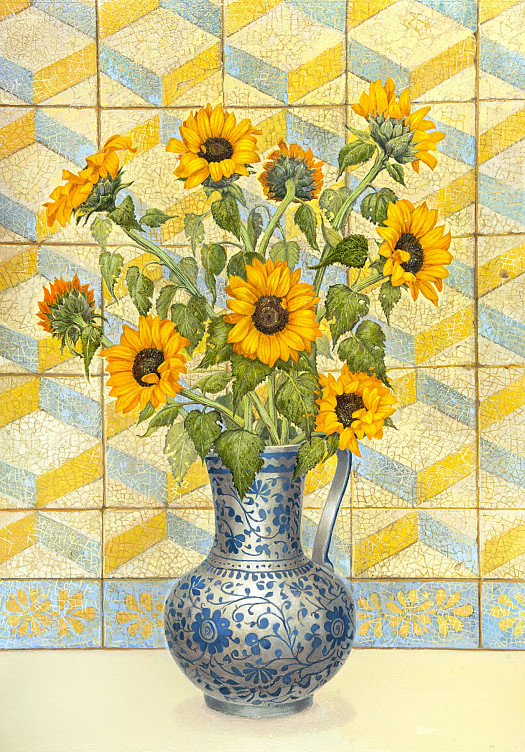 Sunflowers and Tiles from Lisbon