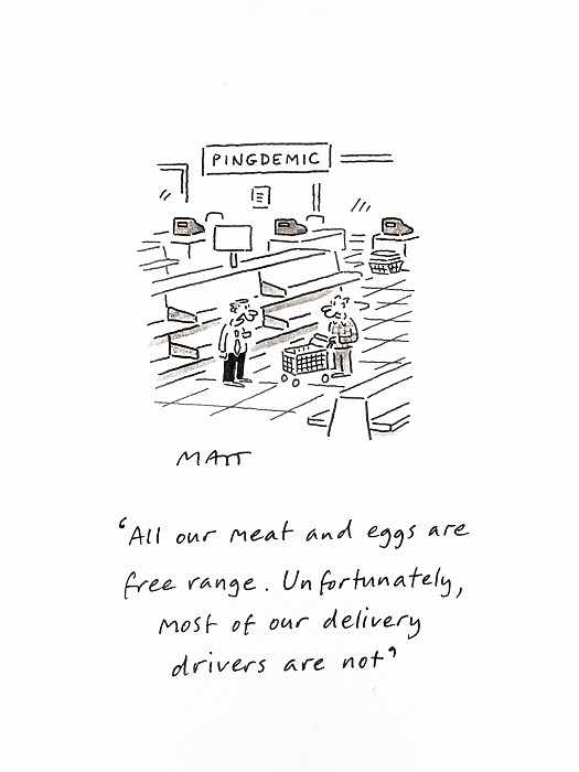All our meat and eggs are free range. Unfortunately most of our delivery drivers are not
