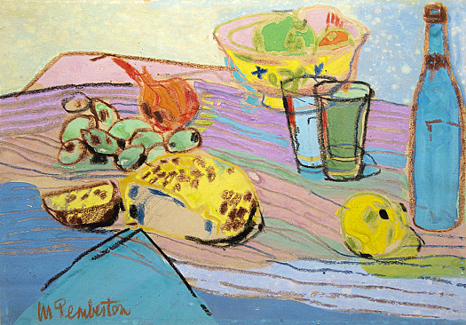 Still Life with Onions and Grapes