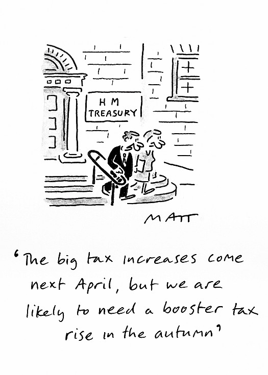 The big tax increases come next April, but we are likely to need a booster tax rise in the autumn