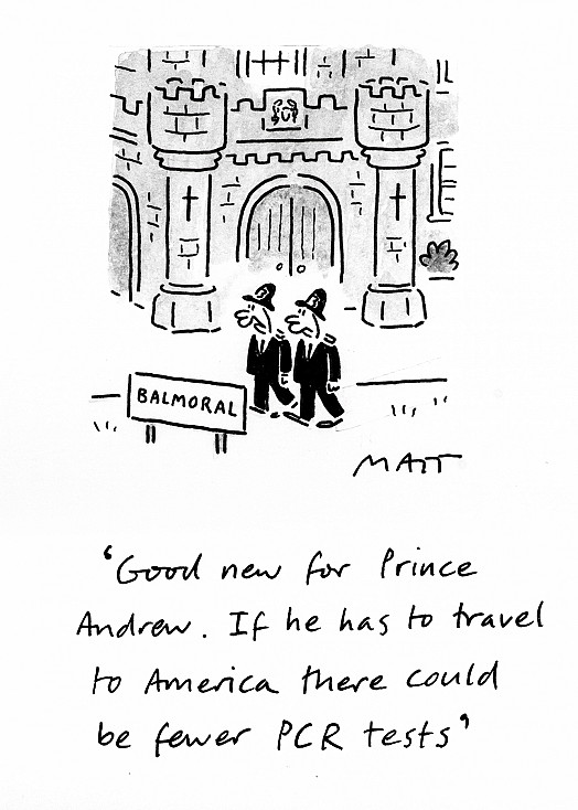 Good news for Prince Andrew. If he has to travel to America there could be fewer PCR tests