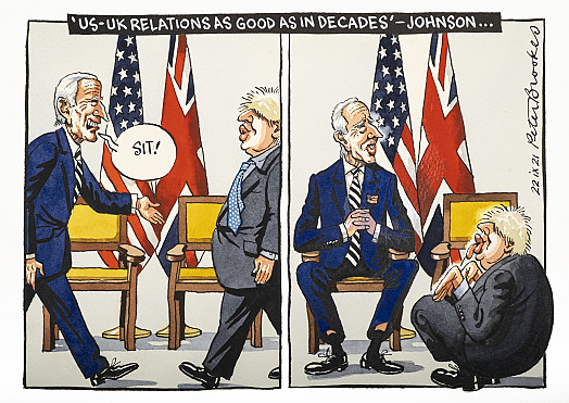 'US-UK relations as good as in decades' - Johnson ...
