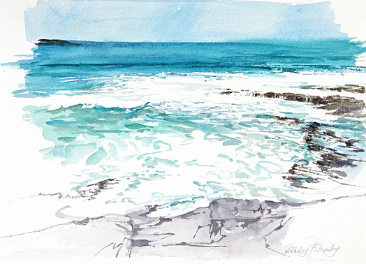 September, Shoreline, Cornwall