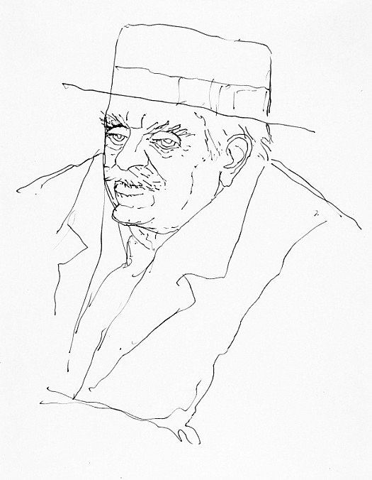 Max Beerbohm, In a Straw Hat