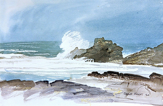 Stormy Sea and Rocks