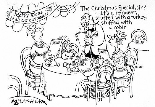 The Christmas Special, Sir? - It's a Reindeer Stuffed with a Turkey, Stuffed with a Robin
