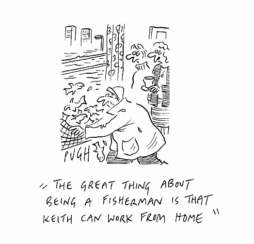 """the Great Thing About Being a Fisherman Is That Keith Can Work from Home"""