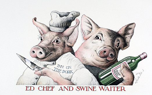 Ed Chef and Swine Waiter