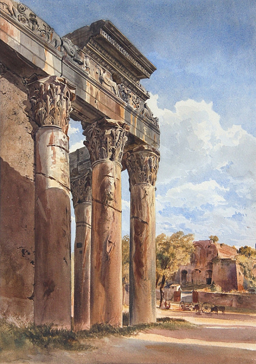 The Temple of Antoninus and Faustina, Forum, Rome