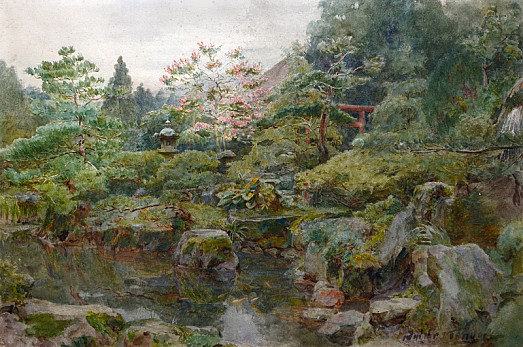 A Rock and Water Garden , Hakone