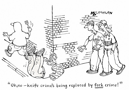 Oh, No - Knife Crime's Being Replaced by Fork Crime!