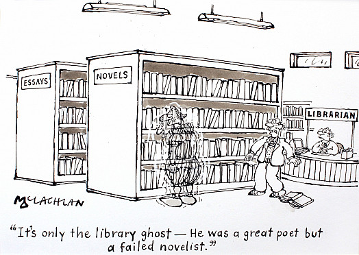 It's only the Library Ghost - He Was a Great Poet but a Failed Novelist