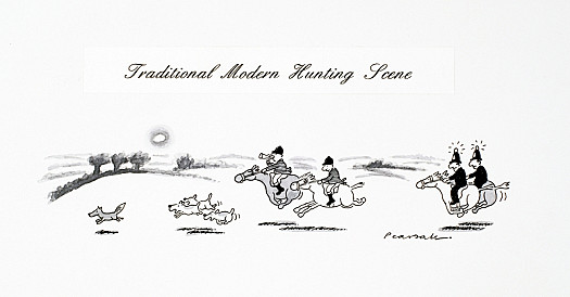 Traditional Modern Hunting Scene
