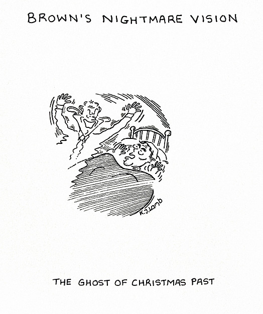 Brown's Nightmare Vision - the Ghost of Christmas Past