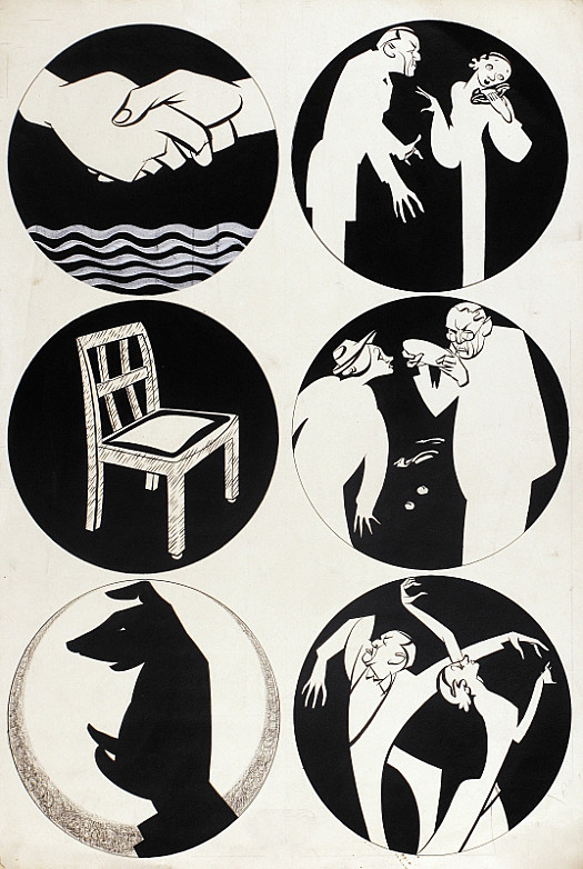 These Sketches Illustrate the Second Programme of 'Tonight At 8.30,' At the Phoenix