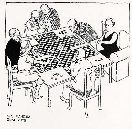 Six-Handed Draughts