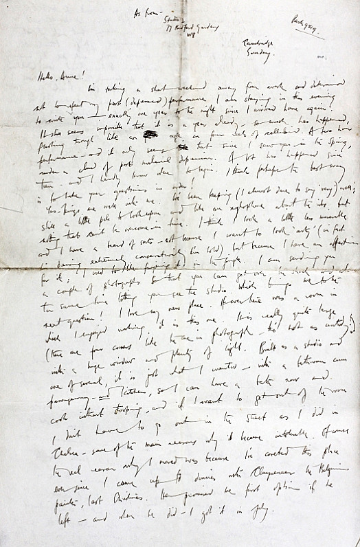 Letter to Anne Dewing