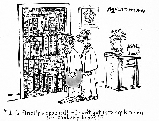 It's Finally Happened! - I Can't Get Into My Kitchen For Cookery Books!