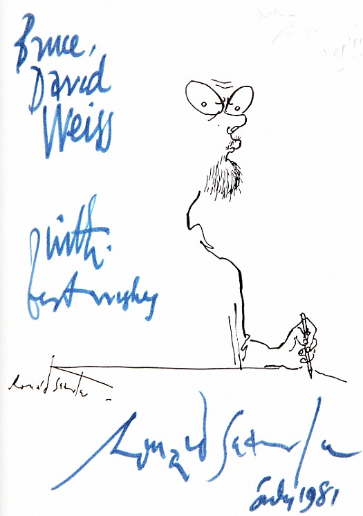 Autograph For Bruce David Weiss