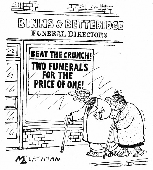 Beat the Crunch! Two Funerals For the Price of One!